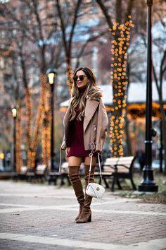 08c51b0fd45 mia mia mine wearing a burgundy sweater dress from nordstrom Burgundy  Sweater Dress, Sweater Dresses