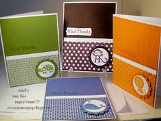 Jennie M's Stampin Spot: Fox and Friends Textured Thank You Set