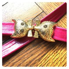"Anthropologie belt Gold cats, crystal eyes! Adjustable to fit all waist sizes. The leather will go as long as 41""! Made in the us. In perfect shape! It's always been at one size (the longest) so the leather isn't warped at all. Anthropologie Accessories Belts"