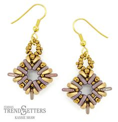 Starman TrendSetter Cornerstones Earrings Free Beading Tutorials, Beading Patterns Free, Bead Patterns, Beaded Rings, Beaded Jewelry, Beaded Bracelets, Diy Jewelry, Jewelry Design Earrings, Jewelry Making Beads
