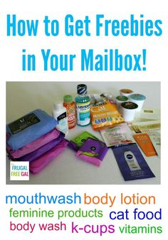 How to Get Freebies in Your Mailbox http://thefrugalfreegal.com/mailbox-freebies-how-to-get-freebies-in-your-mailbox/