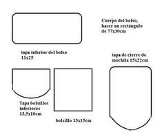 como hacer morrales de moda Sewing, Minis, Jeans, Fashion, Models, Felt, Backpack Pattern, Fashion Fabric, Thanks