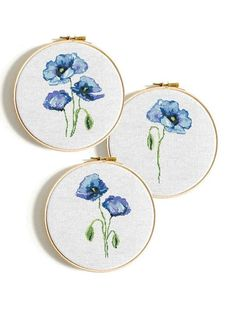 wedding at home Poppy Flower cross stitch Indigo blue poppies Watercolor Modern cross stitch pattern Pdf Easy cross stitch Floral counted cross stitch PDF Modern Cross Stitch Patterns, Counted Cross Stitch Patterns, Cross Stitch Designs, Cross Stitch Embroidery, Cactus Embroidery, Embroidery Art, Cactus Cross Stitch, Simple Cross Stitch, Cross Stitch Flowers