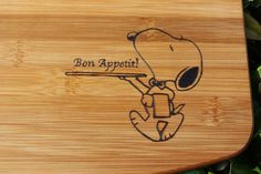 Snoopy Bamboo Cutting Board by FabesBabe on Etsy