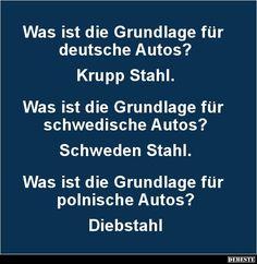 Was ist die Grundlage für deutsche Autos? | Lustige Bilder, Sprüche, Witze, echt lustig Bee Happy, Lol, Memes, Funny Things, Funny Stuff, Stupid, Facebook, Videos, Autos