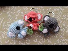 Kawaii Crochet, Crochet Geek, Easy Crochet, Crochet Toys, Tutorial Crochet, Crochet Elephant Pattern, Crochet Keychain Pattern, Crochet Blanket Patterns, Koala Craft