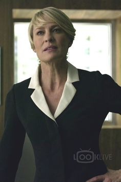 Claire Underwood wearing  Cartier Tank Solo Watch, Andrew GN Contrast Lapel Jacket