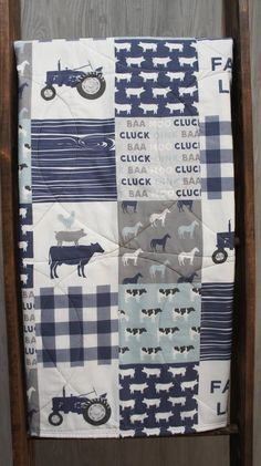 Baby Boy/Girl Quilt Baby/Toddler Blanket  Farm  Tractor