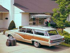 1964 Mercury Colony Park station wagon Retro Cars, Vintage Cars, Station Wagon Cars, Edsel Ford, Woody Wagon, Mercury Cars, Covered Wagon, Car Restoration, Car Advertising