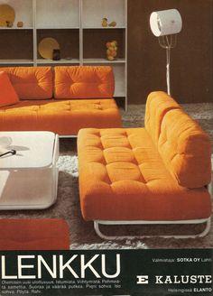 Finnish retro living room furniture sets - 70-luvulta, päivää !