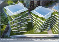 "Vincent Callebaut envisions sustainable ""eco-district"" for Rome"