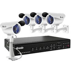 ZMODO 4CH Surveillance H.264 CCTV DVR + 4 Outdoor Day Night Sony CCD Security Camera System with 500GB HDD by Zmodo. $329.28. Overview This surveillance camera monitoring system provides everything you will need to protect your home or business, safeguard your loved ones, and deter intruders. The system includes a state-of-the-art 4 channel H.264 DVR with 4 Sony CCD day/night cameras and 500GB hard drive, and allows for the simultaneous viewing and recording of 4 video...