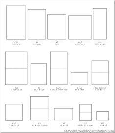 9 best wedding invitation paper size images on pinterest
