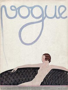 Vogue, August 1930. Cover illustration: Andre Edouard Marty.