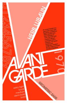 avant garde font poster - Google 검색