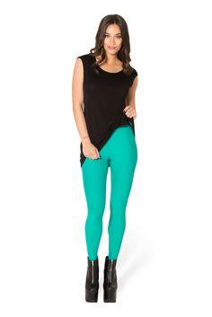 Matte Jade Leggings (WW $40AUD / US $35USD) by Black Milk Clothing