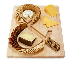 Cheese & Crackers Serving Tray via Uncommon Goods. #adoredecor