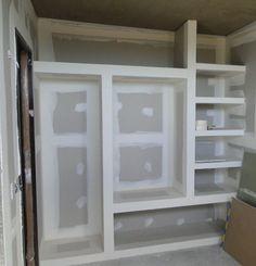 Interior de un vestidor con durlock