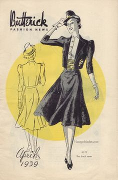 U.S. Butterick Fashion News April 1939