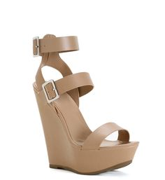 Natural Double Strap Wedges at WindsorStore