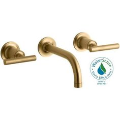 Purist wall mount bathroom sink faucet kohler brushed gold - Brushed gold bathroom faucets kohler ...