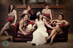 bridal party ideas for a rainy day