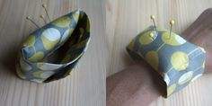 Sew simple pin cushion for your wrist.  A great gift to those that sew!