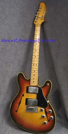 Cool vintage Fender - the Starcaster. This is what Trey from Phish's custom guitar is modeled after to a certain extent