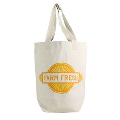 Farm Fresh Farmer Market Tote by HomArt - Seven Colonial Farmers Market, Shopping Bag, Reusable Tote Bags, Marketing, Fresh, Canvas Totes, Outdoor, Colonial, Trips