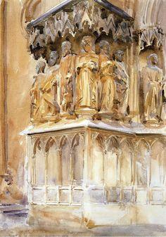 The Athenaeum - Tarragona (John Singer Sargent - )