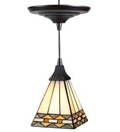 Screw-In Pendant Stained Glass Shade