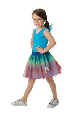 Girls Rainbow Dash Wings My Little Pony Book Day Fancy Dress Costume Outfit