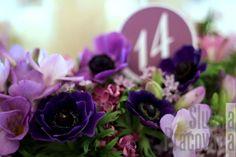 Ombre wedding dekoracja stołu gości
