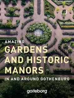 Wonderful gardens and grand manors in and around Gothenburg. #greenadventures #organic #gardening #manors #gardens