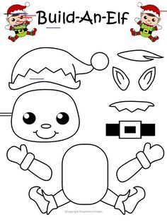 Easy Printable Christmas Elf Craft for Kids to Make Decorate the classroom or use this free printable reindeer craft as a diy Christmas ornament. He is perfect for kindergartners and preschool age kids! Popsicle Stick Christmas Crafts, Christmas Craft Show, Christmas Crafts For Kids To Make, Christmas Activities For Kids, Preschool Christmas, Diy Christmas Ornaments, Christmas Elf, Preschool Crafts, Kids Crafts