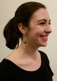 Our Bleeding Heart Earrings are handmade by our partner female artisans from India.