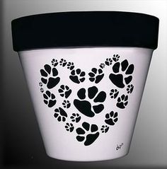 Dog or Cat Paws in a Heart-Shaped Pattern by DesignsByDesa on Etsy