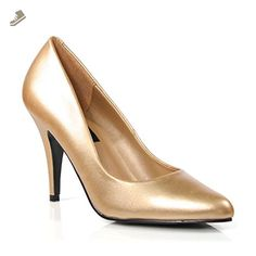 4 Inch Womens Sexy Shoes Wear To Work Shoes Classic Pump Shoes Gold Size: 7 - Summitfashions pumps for women (*Amazon Partner-Link)
