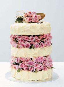 bolo casamento decorado com flores