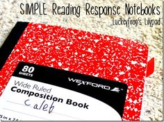 I have always wanted to do reading response notebooks, but they've seemed like too much work. Here's how to set them up easily!