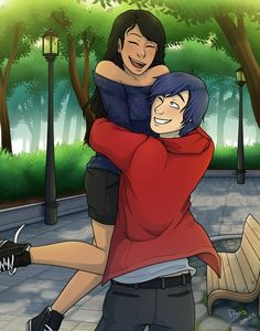 Dante and Aphmau by proxycomics...didn't know this was even a ship but, I'm still mad in love with this guys artwork