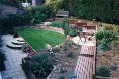 Small Steep Landscape Beautiful Small Backyard Sloping 400 x 300