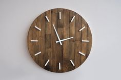 Hey, I found this really awesome Etsy listing at https://www.etsy.com/listing/213344860/rustic-wall-clock-large-wall-clock