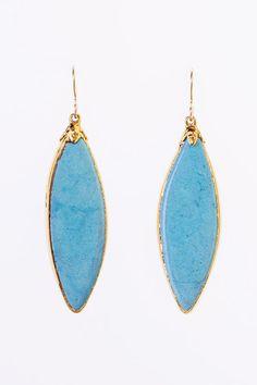 bright blue earrings by http://elephantheart.com