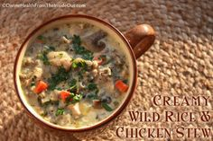 Chicken & Wild Rice Stew - Slow cooker recipe, but I will adapt this one for the pressure cooker.