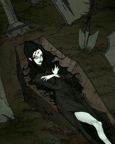 Living Dead Dolls-Abigail Crane by Abigail Larson Gothic Drawings, Art Drawings, Gothic Artwork, Dark Fantasy Art, Dark Art, Abigail Larson, Living Dead Dolls, Psy Art, Vampire Art
