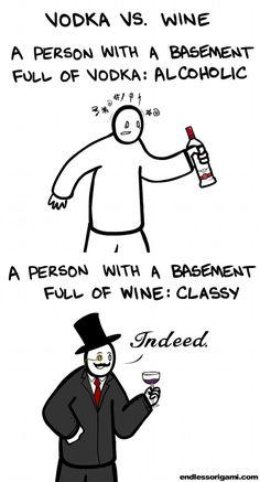 Vodka vs. Wine...LOL