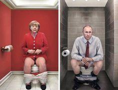 La serie Il Dovere Quotidiano (El deber cotidiano) de la artista italiana Cristina Guggeri, presentan unos divertidos fotomontajes de los lides mundiales m