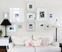 i love this photo collage wall via pretties and posies