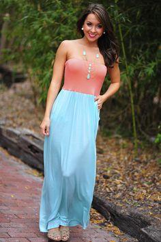 Color Me Happy Dress: Mint/Coral   Hope's